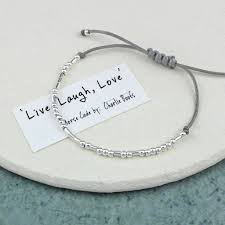 morse code live laugh love bracelet