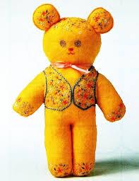 Teddy Bear Chart Instant Pdf Digitaldownload Vintage Chart Or Graph Sewing Pattern A Cute Embroidered Bear A Stuffed Plush Soft Body Toy Teddy Bear 24 Cm