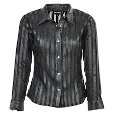 leather shirt black alina