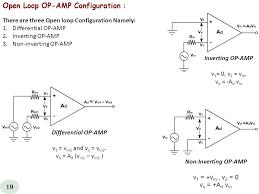 open loop op amp configuration