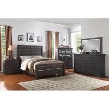gray king bedroom sets. 6pc:8068/revolutn6/6 dark gray casual contemporary 6 piece king bedroom set sets