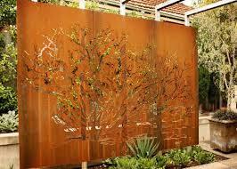 customized corten steel metal tree wall