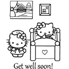 Coloring this character is very simple : Top 25 Free Printable Get Well Soon Coloring Pages Online