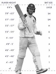 Cricket Size Guide For Pads Bats Helmets And Gloves