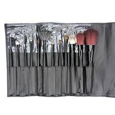 12 piece beaute basics makeup brush set with faux reptile wrap