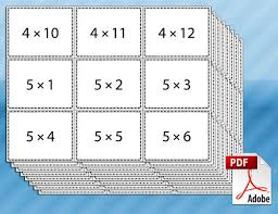 Printable Multiplication Flash Cards Teaching Pinte