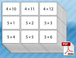 Multiplicatin Flash Cards Printable Multiplication Flash Cards Teaching Pinte