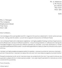 different cover letters software tester cover letter example lettercv com