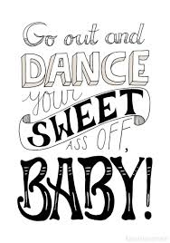 Typo Poster Dance Typo Artprint Dance By Luloveshandmade Via