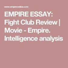 what is a good thesis statement on the novel fight club yahoo  fight club essay masculinity and femininity