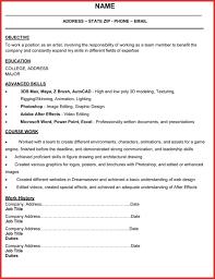 Fx Animator Sample Resume Mind Mapping Worksheet