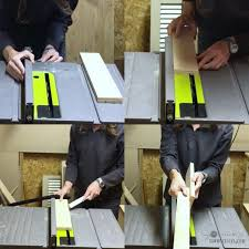 dado joint table saw. doing second pass for dado joint on table saw