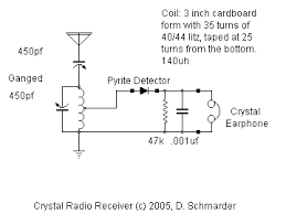 dave s homemade radios crystal set 59 a great easy to make schmarder s crystal radio 59 schematic
