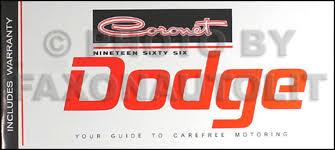 1966 coronet wiring diagram manual reprint 1966 dodge coronet owner s manual reprint