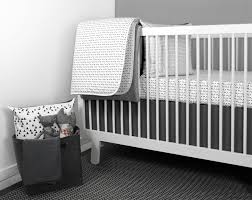 mini triangle crib bedding set from olli lime