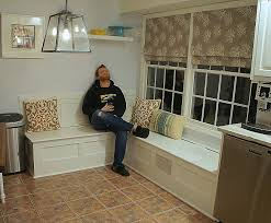how to build a breakfast nook bench with storage lovely corner table set