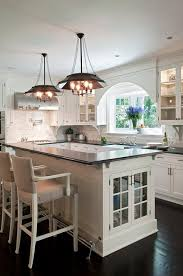 L Shaped Kitchen Island With Foot Rail View Full Size