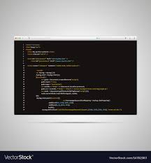 Modern browser with simple html code of web page