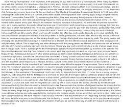 essay homosexuality essay