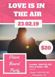 Event Flier Entry 6 By Piveterr4 For Create A Vision Board Party Event