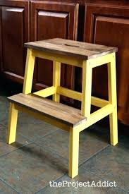 toddler step stool the natural look with bright yellow wooden ikea folding amazing kitchen h wooden step stool