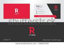 Name Card Delectable R Letter Logo Business Card Stock Vector Royalty Free 44