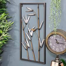 bamboo framed metal wall art wall art