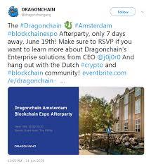Dragonchain Drgn Dragonchain Amsterdam Blockchain Expo