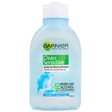 2 x garnier clean sensitive gentle eye make up remover 150ml free pose