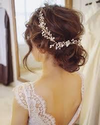 bridal hair vine crystal and pearl hair vine hair vine bridal etsy