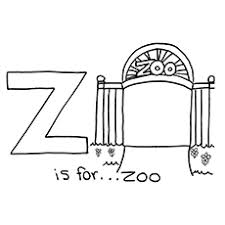 z is for zoo coloring page. For Zoo Uppercase Letter Coloring Pages Inside Is Page