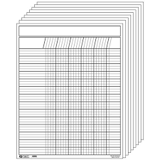 White Incentive Chart Vertical Incentive Chart Set White