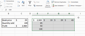 Excel The What If Analysis With Data Table