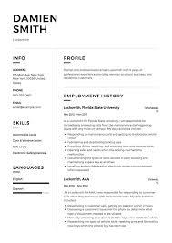 Locksmith School Resume A Good Resume Example