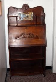 antique larkin drop front secretary desk with mirror larkin