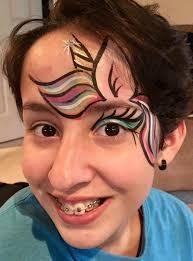 evelyn dejesús unicorn face painting design