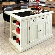 hollow distressed white board kitchen island with drop leaf breakfast bar cart