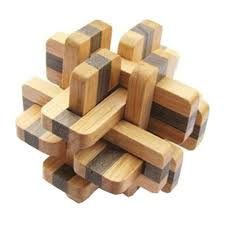 2 pcs challenging wood brain teaser puzzle disentanglement puzzles style 17 on on