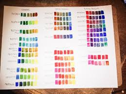Artist Color Mixing Chart Winsor Newton Color Mixes Professional Artist Colors
