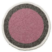 brilliant adairs kids pink banded round freckle rug home gifts rugs regarding round kids rug