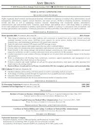 office administrator resume samples business admin resume business administration objective resume