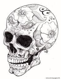 Free Printable Sugar Skull Coloring Pages Beautiful Image Hard Heart