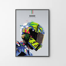 Valentino rossi and aldo drudi, the most famous graphic designer of the motogp, created a when i read the headline wear a helmet just like valentino rossi i have to confess that the grammar nazi. Valentino Rossi Helmet Poster Print Illustration Etsy