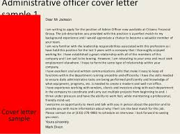 administrative officer cover letter covering letter for admin job
