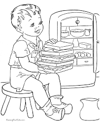 016 big sandwich picture cute food coloring sheets to print and color on cute food coloring pages