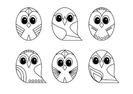 Small Picture owl line art design coloring page Download Print Online