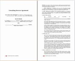 Consultant Contract Template Gorgeous Simple Consulting Agreement Template Regular Simple Consulting