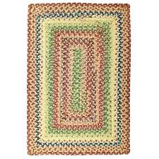 braided rugs rectangle glass ultra durable indoor outdoor stain proof photo 8x10