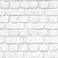 Warehouse Photographic Brick Effect Wallpaper White, Grey (ILW261454)