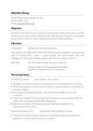 Resume For Higher Education Jobs Example Parttime CV 20